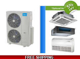 Midea 48000 BTU Mini Split Heat Pump AC Ductless Cassette Ducted